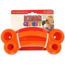 Kong Quest Bone, large, orange